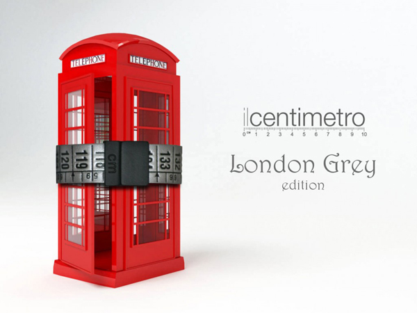 IL CENTIMETRO - LONDON GREY - RUBBERSKIN NERA