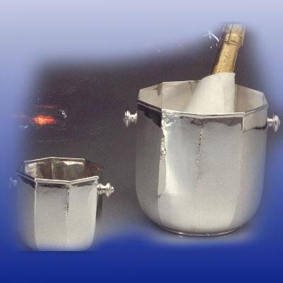 Secchio Champagne Secchiello Ghiaccio Ottag Arsal Argenterie